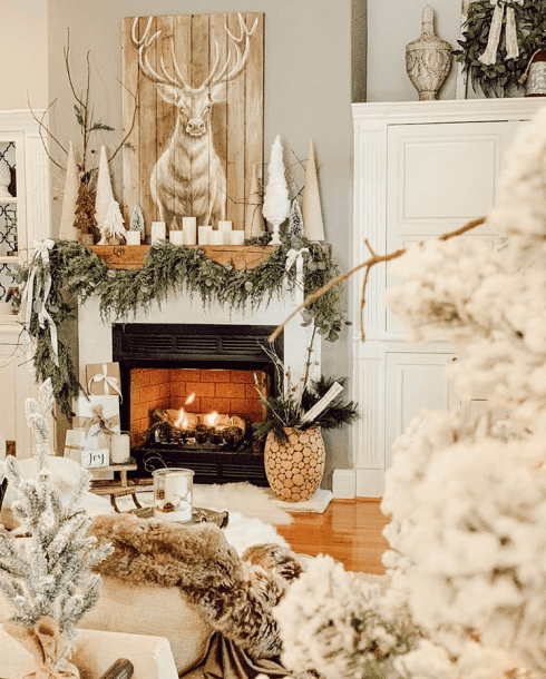 Traditional Farmhouse Christmas decorating style