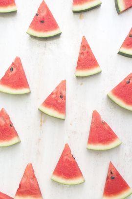Watermelon slices summer wallpaper background