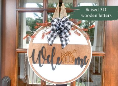 Welcome sign for porch fall decor