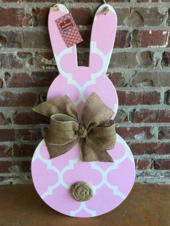 Wood Easter Bunny Door Hanger