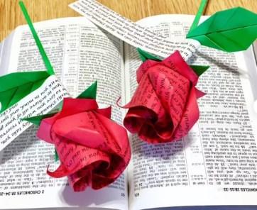 Wording Roses - origami roses
