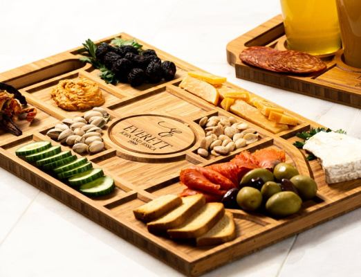 You might need a Personalized Charcuterie to display the picnic food in a brilliant way