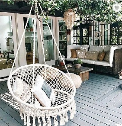boho hanging chair decor