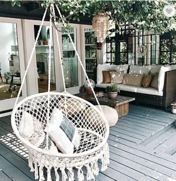 boho hanging chair decor