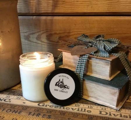 camomile scented candle for stress relief