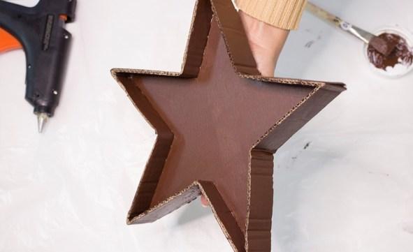 cardboard star tray tutorial step by step