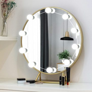 cheap rounded vanity mirror for wall