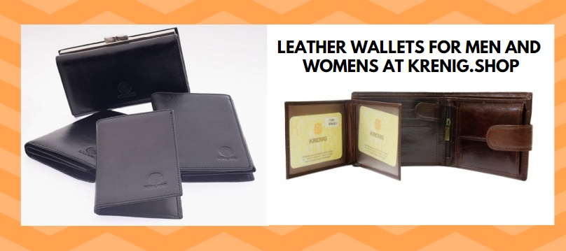 Leather wallets for men and women