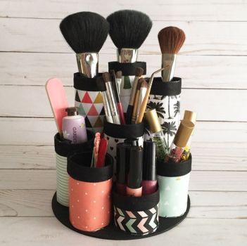 diy cosmetic organiser for christmas gifts