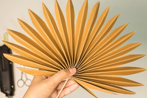 the end result of paper palm leaf