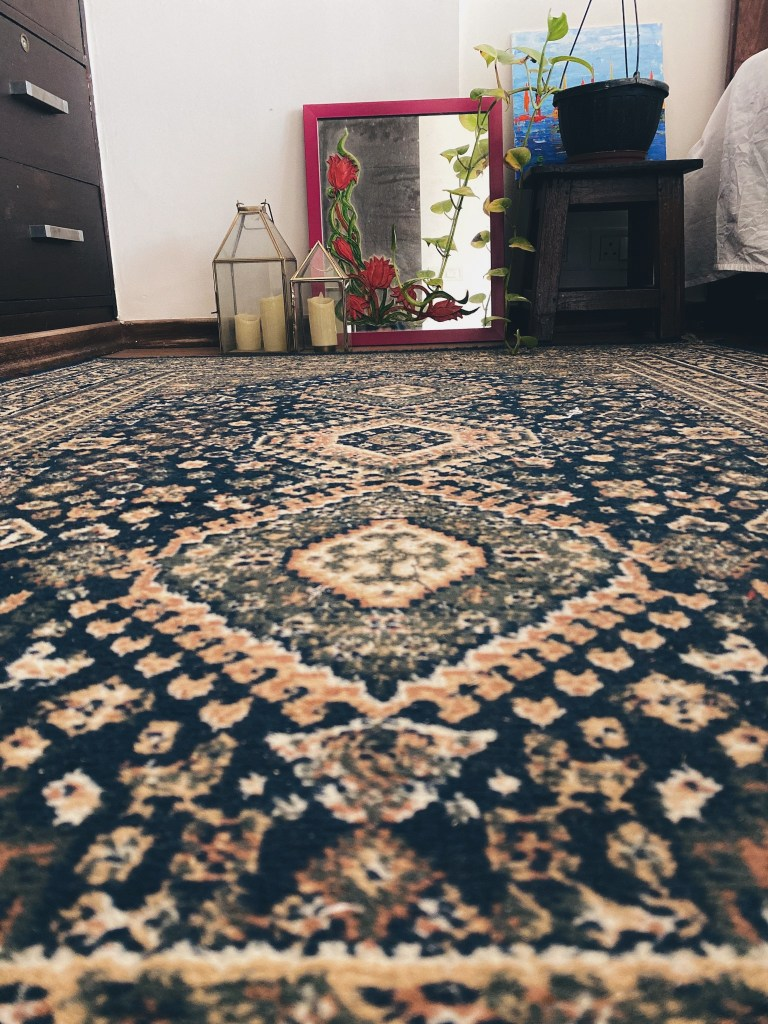blue Persian carpet