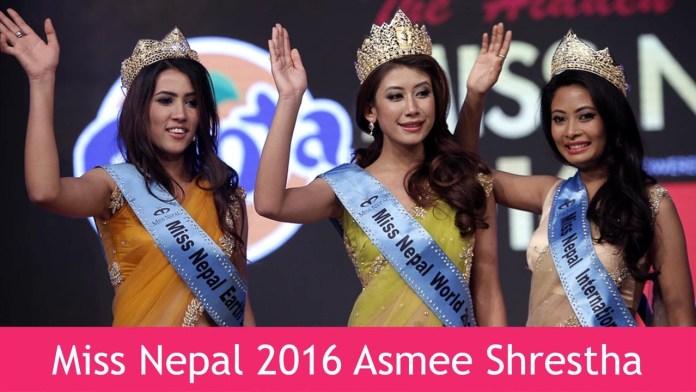 Miss Nepal 2016 Asmi Shrestha