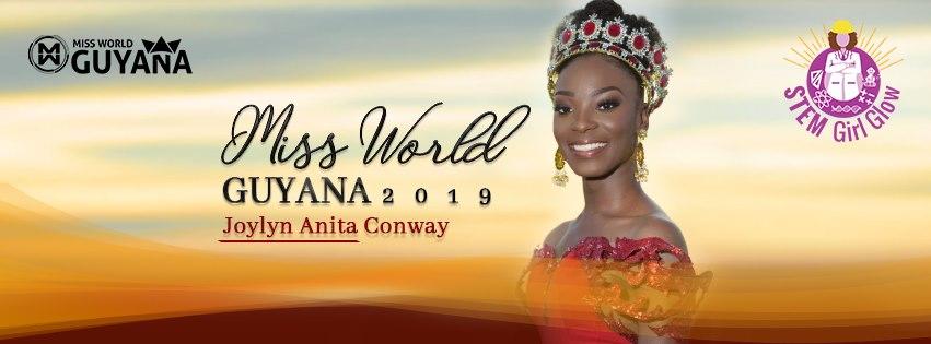 JOYLYN CONWAY IS MISS WORLD GUYANA 2019!
