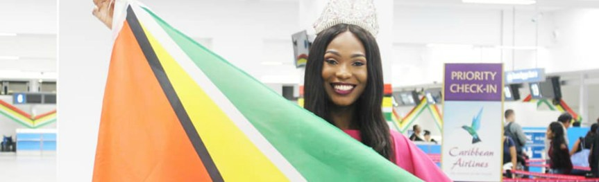 Miss Earth Guyana 2019 Faydeha King is off to the Philippines!