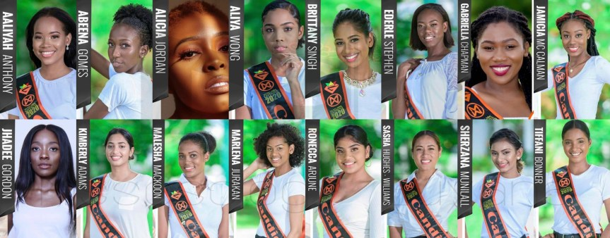 Meet the Miss World Guyana 2020 Quarter-finalists!