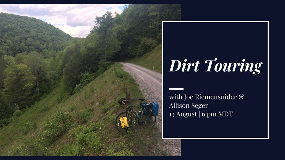 Learn about bicycle dirt & gravel touring on Thursday night courtesy of  Adventure Cycling