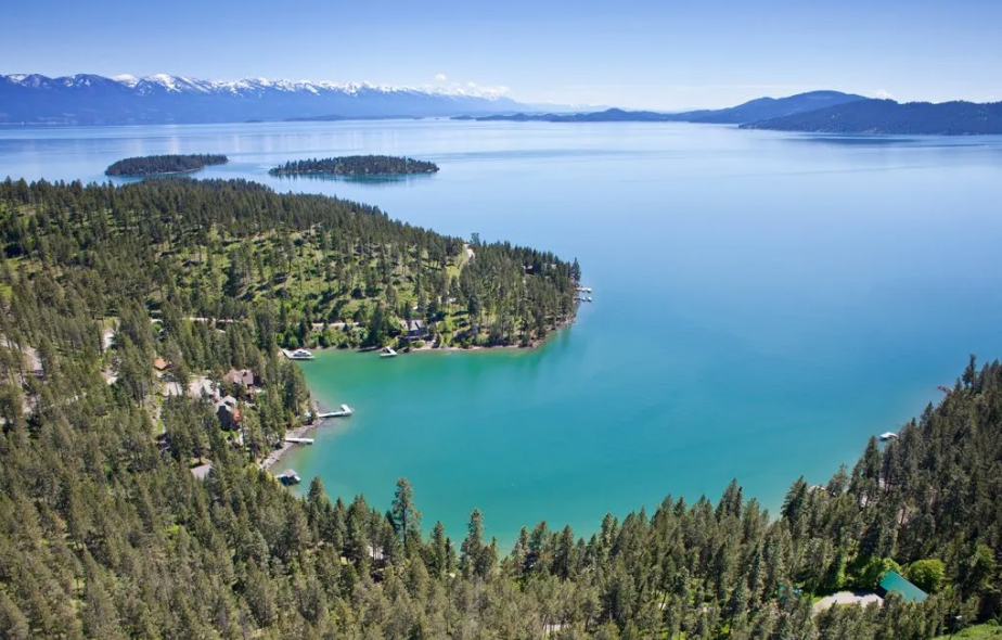 Flathead Lake Montana - one of the prettiest places in the world to spend the day on a sailboat.