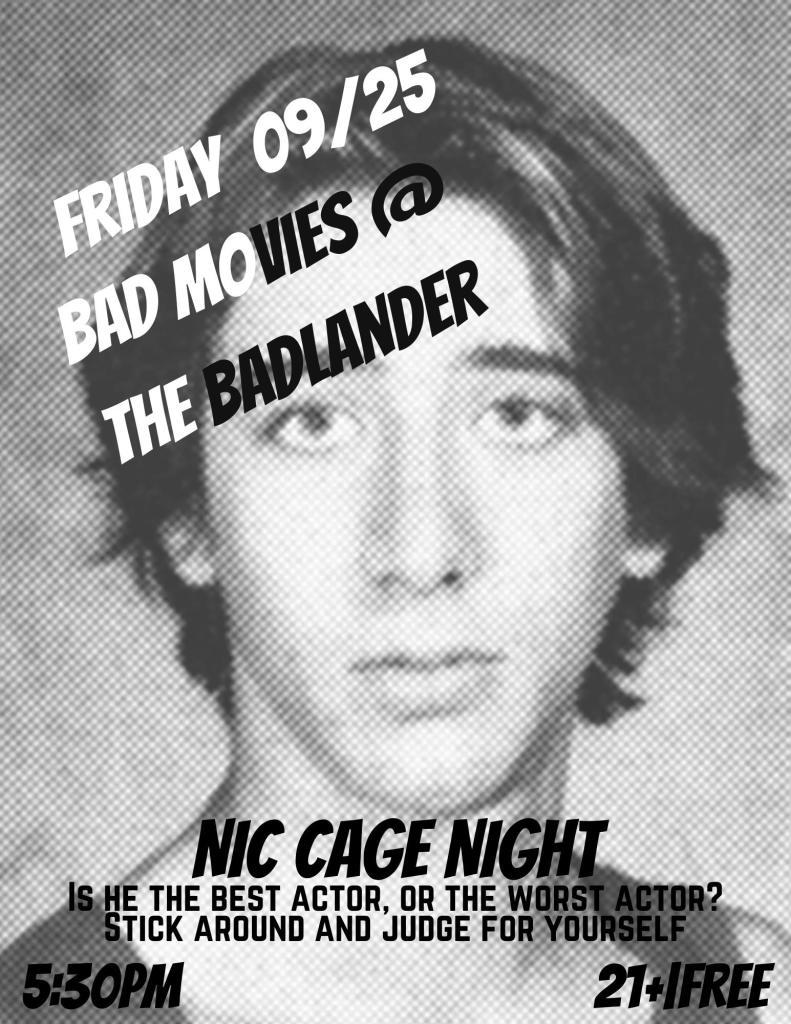 Nicholas Cage Bad Movie Night