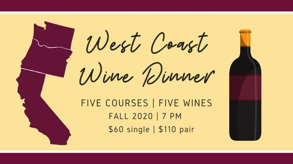 West Coast Wine Dinner at The Stone of Accord