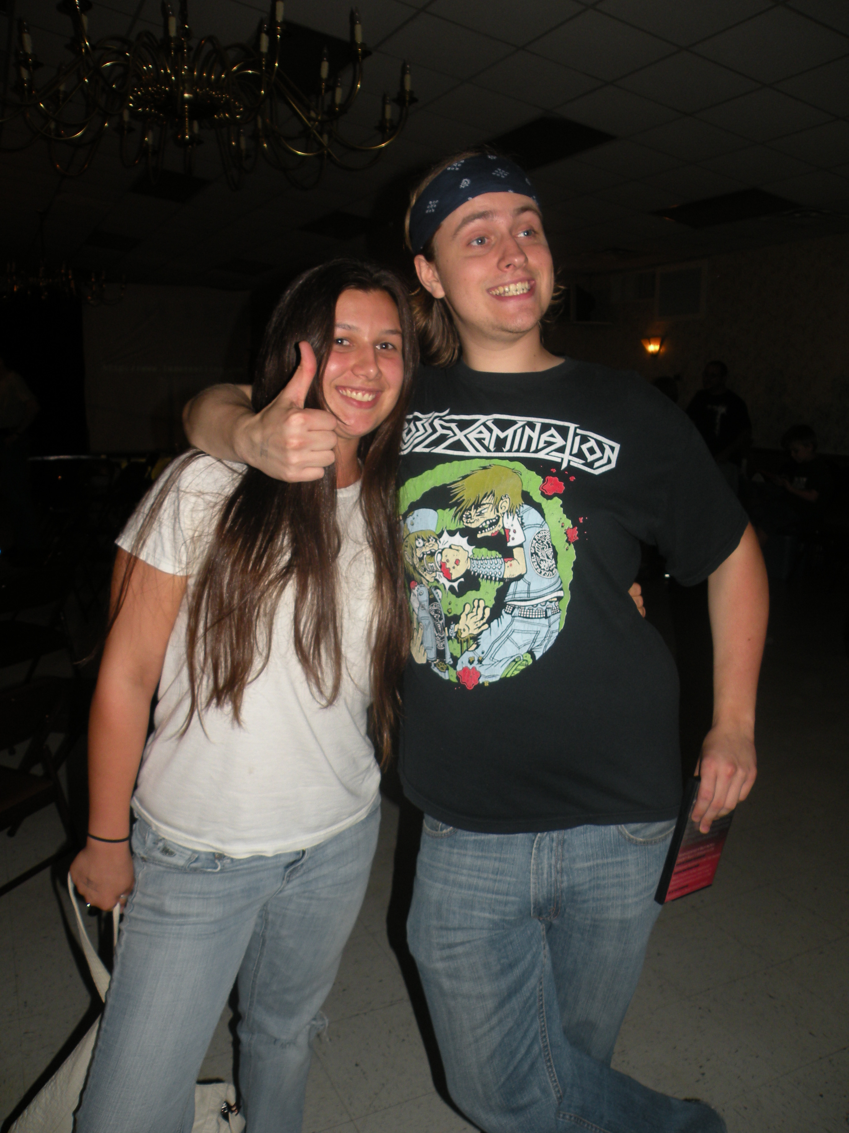 """Mallory Willson with fellow fan Justin Poole (Photo Credit Brian """"Flair"""" Kelley)"""