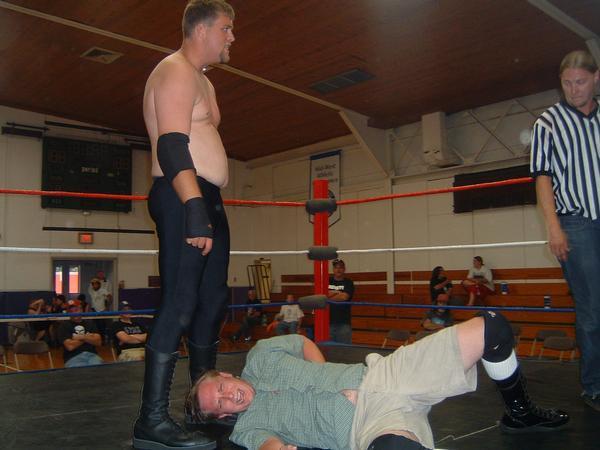 "Big Cody stalks the very entertaining Dexter Schwartz on way to victory. (Photo Credit Brian ""Flair"" Kelley)"