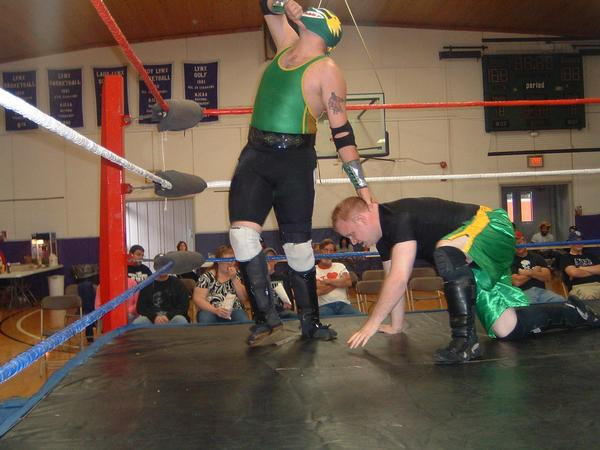 """Dragon Verde  thinks that it is over but Connor Riley took home the win.(Photo Credit Brian """"Flair"""" Kelley)"""