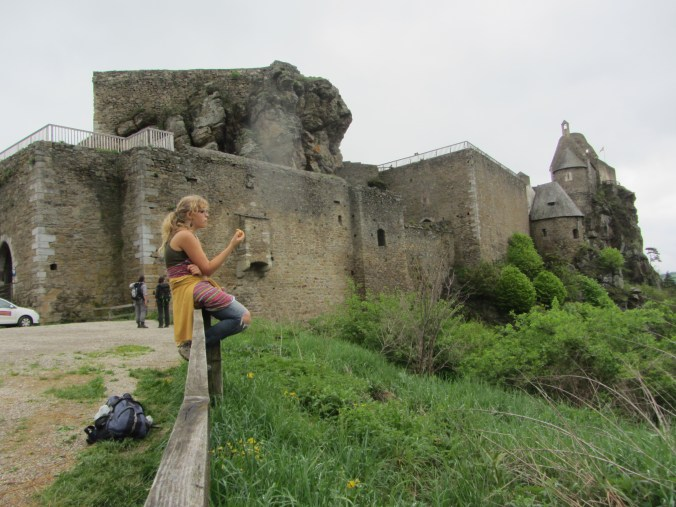 Ruins of Aggstein with my daughter Anna-Sophie
