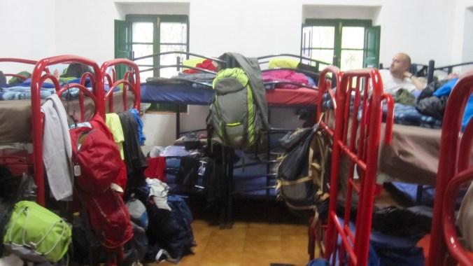 Sleeping room of the albergue San Juan