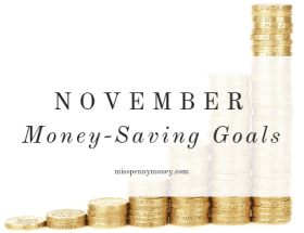 Money-Saving Goals for November