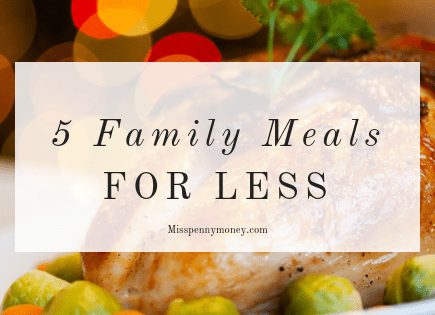 How to make meals on a budget