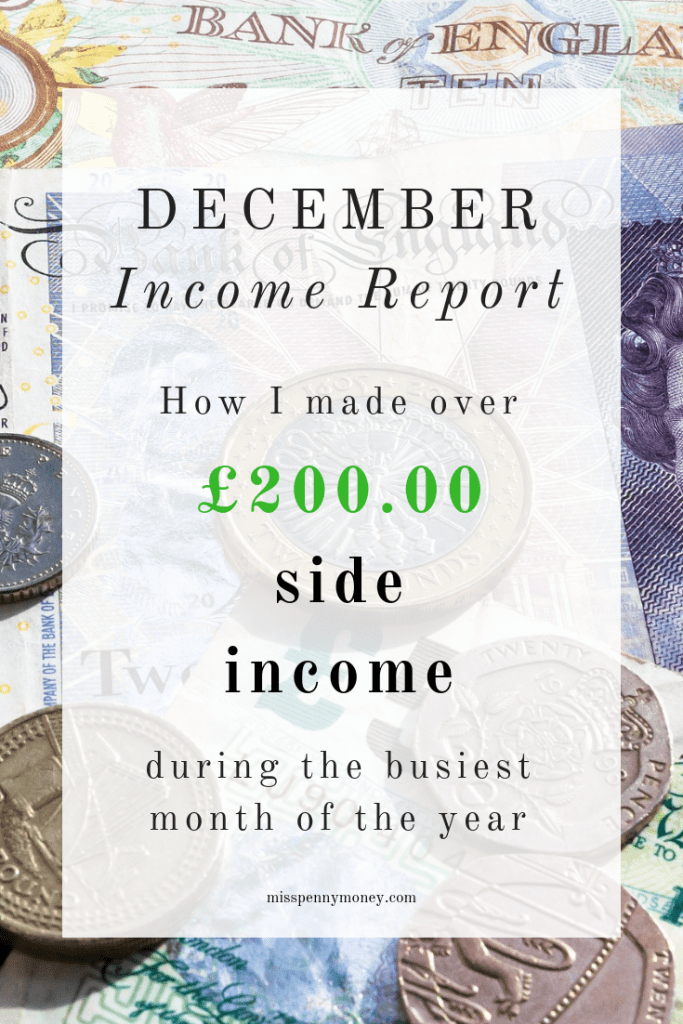 December Income Report - Miss Penny Money