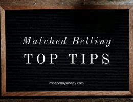 Top Tips for Matched Betting