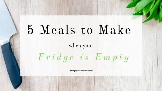 5 Store Cupboard Dinners – Frugal Food
