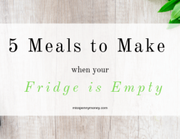 5 Meals to Make with Store Cupboard Essentials