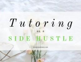 Tutoring as a side hustle