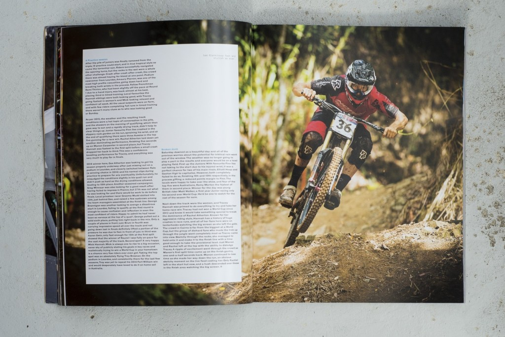 Hurly Burly downhill book 2016 by Misspent Summers