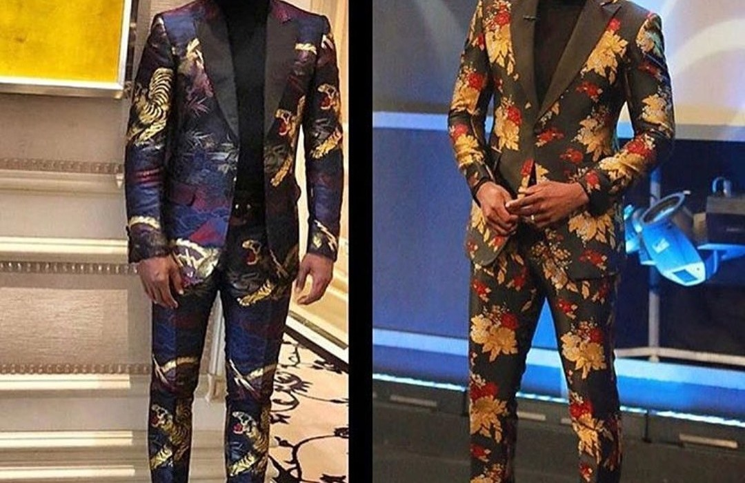Battle of the floral suits-Ebuka vs Floyd Mayweather