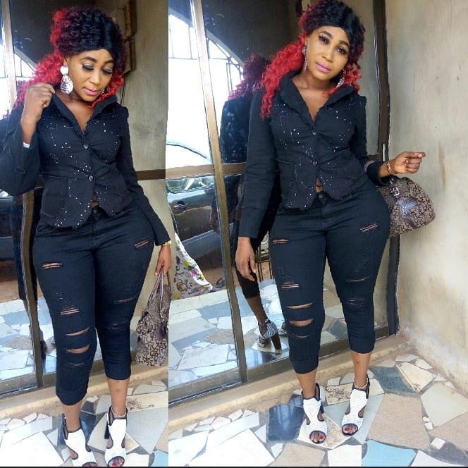 Nollywood actress Shebaby 's photoshopped hips has fans talking