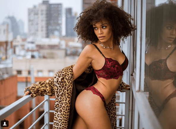 S.A celebrity Pearl Thusi stuns in sexy lingerie