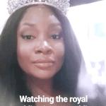 OAP ,Toolz watched the Royal Wedding in her weddingTiara
