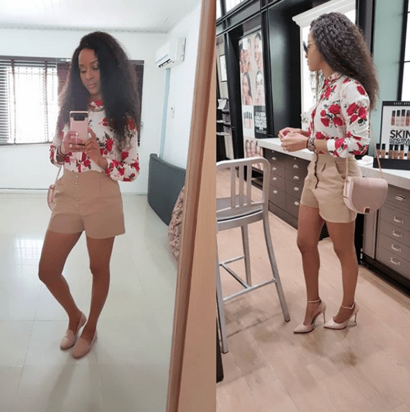 Heels or flats? Adesua Etomi wants fans to decide which looks best