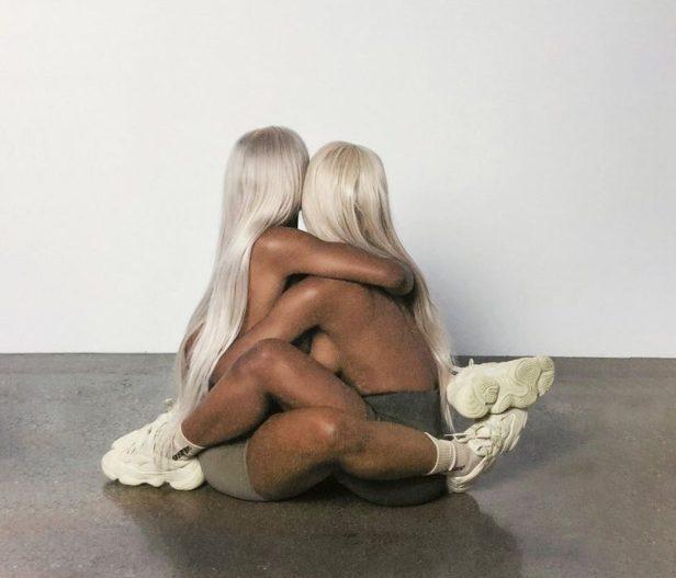 Kanye West shares racy snaps including naked Kim lookalike
