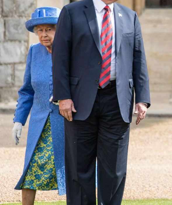 Donald Trump breaks royal protocol during meeting with Queen