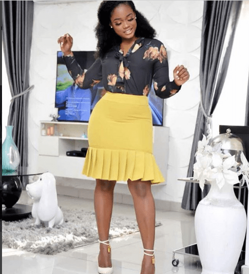 Cee-C and her hips turn heads in short skirt