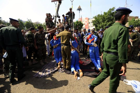 Paedophiles publicly shot and hanged after raping and killing young boy