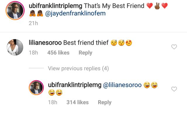 Lilian Esoro and Ubi Franklin