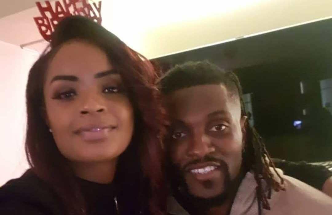 Emmanuel Adebayor and Dillish Matthews celebrate one year dating anniversary