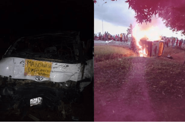 GRAPHIC: 3 Madonna university students burnt to death in ghastly crash