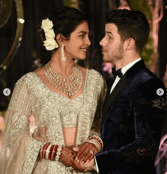 See what Priyanka Chopra and Nick Jonas wore for their wedding reception