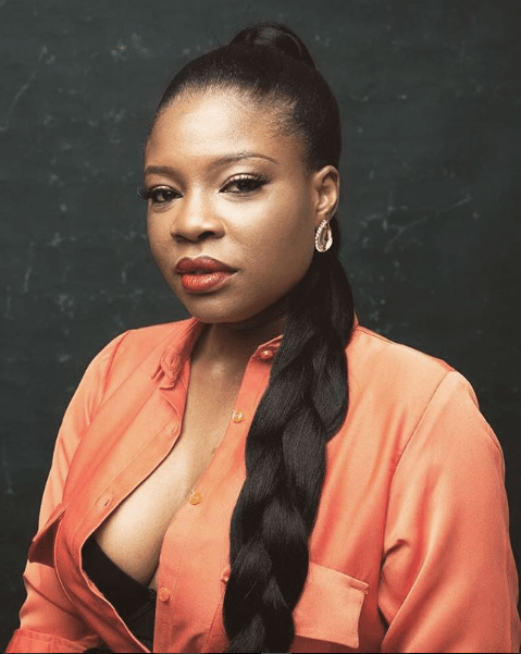King Of Boys! Kemi Adetiba shows off her stunning self in cleavage-baring photo